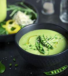 Grön ärtsoppa med wasabi