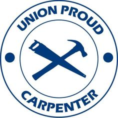 Union Proud Carpenter vinyl decal car sticker For any carpenter that is proud of their career! This is a one-color cut-decal. Sizes available: - Small: Diameter - Medium: Diameter - Large: D Woodworking Guide, Custom Woodworking, Woodworking Projects Plans, Union Carpenter, Baseball Banner, Car Stickers, Quilt Making, Carpentry, Getting Organized