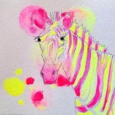 Acid Zebra print, Nicole Leigh Smith,