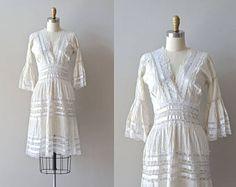 Vestido de encaje de balandra | encaje blanco de los años 1950 • vintage 50s mexicano Vestido de novia
