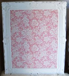 diy shabby chic Bulletin Board - Click image to find more Home Decor Pinterest pins