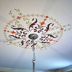 The complete 19th Century Ceiling Stencil Set includes all four stencils from this classic collection at a reduced price to create a coordinated stenciled ceiling in your dining room, living room, or