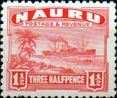Nauru 1954 SG 48 Nauruan Netting Fish Fine Mint Scott 39  Other Nauru Stamps HERE