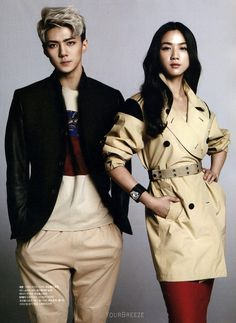 Sehun -Exo The Celebrity Kpop Exo, Suho Exo, Exo Kai, Lay Exo, Work Hard In Silence, Celebrity Magazines, Hunhan, Kpop Guys, Chinese Boy