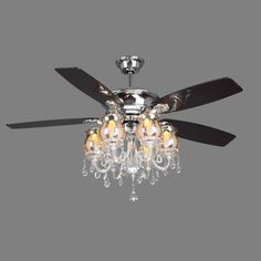 crystal chandelier ceiling fan combo … | pinteres…