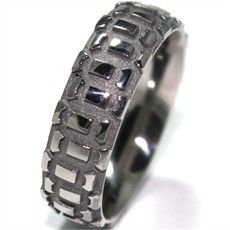 Motorcycle Tread Titanium Ring, Dirt Bike Rings - Titanium-Buzz.com...my hubby totally needs this!!