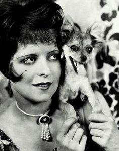 Clara Bow & pup ~ My Love Of Old Hollywood Vintage Hollywood, Classic Hollywood, Clara Bow, Silent Film Stars, Hollywood Heroines, Classic Movie Stars, Chihuahua Love, Vintage Dog, Roaring Twenties