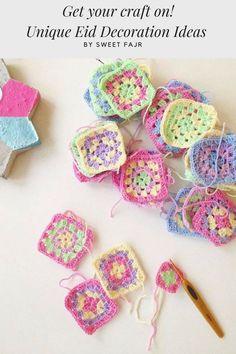 Classic Eid Crafts to Make or Print From Fajr Diy Candle Holders, Diy Candles, Eid Crafts, Crafts To Make, Eid Mubarak, Ramadan, Truffles, Free Printables, Crochet Necklace