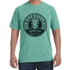 Adult Nashville Music City Tennessee on a Island Reef T-Shirt