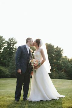 Romantic Blush Pink, Peach And Gold Wedding | Brooke Courtney Photography