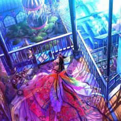 日本队pixiv画师藤原,流彩的画面,细致的画风,色彩缤纷幸福洋溢,这样的画集你喜欢吗?