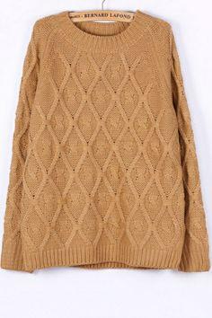 Fireside Geo Cable Sweater OASAP.com