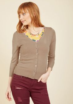 Charter School Cardigan in Biscuit in M, #ModCloth