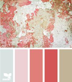 Peeling hues color palette by design seeds Colour Pallette, Color Palate, Colour Schemes, Color Combos, Color Patterns, Design Seeds, Paleta Pantone, Palette Design, Colour Board
