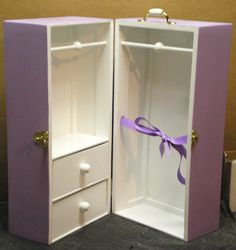 2 Color 2-Drawer Doll Trunk 4 American Girl Doll on Etsy, $77.95