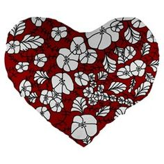 Red White Black Flowers Large 19 Premium Flano Heart Shape Cushions from CircusValley Mall Front Black Flowers, Home Decor Items, Heart Shapes, Beautiful Homes, Red And White, Cushions, Holiday Decor, Floral, Mall