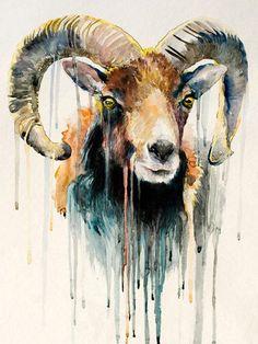 Artist-New-Design-Abstract-Animal-Goat-Oil-Painting-For-Wall-Decoration-Abstract-Goat-Oil-Painting-For.jpg (750×1000)