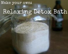 """DIY Detox Bath Recipe This is a really great """"recipe"""" I found for the ultimate detox bath. Use this guide to relax, flush toxins from your skin and overall just feel better! CLICK the link to the recipe below to see how to make your own ultimate detox bath..."""