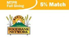 Do Two Good Things | MTPR Donate to Montana Public Radio by Oct. 24th and your donation will not only support MTPR, but will also activate a 5% match to the Montana Food Bank Network! Thanks to MTPR and supporters, your one donation does two very good things. Thank you, thank you (two times)!