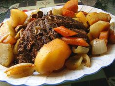3 Hour Old Fashioned Oven Pot Roast from Food.com:   Delicious pot roast - the meat stays together so it is easily sliced but tender too fabulous gravy. Looked for recipe that was for oven and not crockpot.