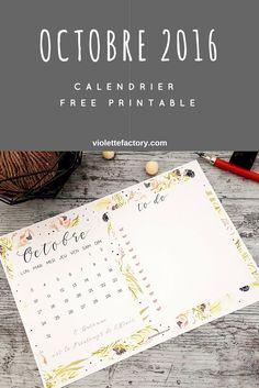 #calendrier #free #printable #octobre
