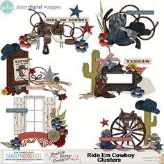 Ride Em Cowboy Clusters by CKCreative #pdw #digitalscrapbook #scrapbook #digital #clusters #ckCreative