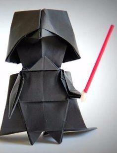 Darth Vader origami!
