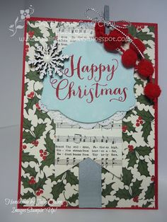 handmade by Julia Quinn - Independent Stampin' Up! Demonstrator: Holiday DSP for CASEing the Catty - totally gorgeous!