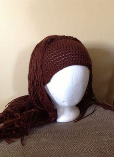 Handmade+Crochet+yarn+Hat+Hair+wigwomen+baby+kids+by+SueStitch,+$29.99