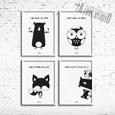 Social Platform, Lis, Home Deco, Baby Room, Kids Room, Black And White, Funny, Poster, Character