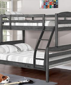 Look what I found on #zulily! Rustic Gray Twin Over Full Bunk Bed #zulilyfinds