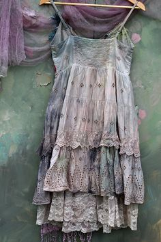 The rose and edelweiss dress  fairytale inspired bohemian