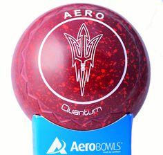 Aero Quantum lawn bowl in Maroon red color. Custom Arizona state University logo.