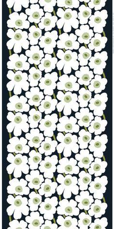 Marimekko white flowers