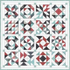 Feed Company Half-Square Triangle Quilt | Hummingbird Thread                                                                                                                                                      More