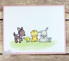 Create a soft easter or baby card using the Made with Love Stampin' UP! stamp set. Wendy Cranford wendy.cranford@live.com