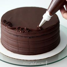 Learn how to make an easy but fabulous, chocolate cake recipe.