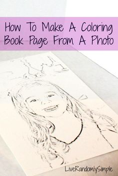 How to Make a Coloring Book   Pinterest   Family holiday, Tutorials ...