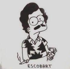 "mecosarioo: ""Escobart Simpson """