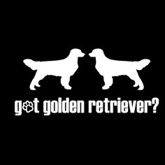 Got Golden Retriever? Vinyl Car Window Decal/Sticker, click or dial 1-844-446-4DOG for dog gifts and supplies that donate to help feed shelter dogs in the USA.