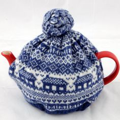 Tea cosy knitted  Ocean blue by MellieLang on Etsy, $60.00