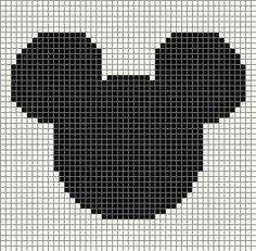 """Diy Crafts - Template for Mickey """"Scroll down for all free word charts!"""", """"Mickey Mouse x-stitch"""", """"\""""crochet words, not squares\"""""""" Graph Crochet, Crochet Blanket Patterns, Baby Knitting Patterns, Crochet Stitches, Cross Stitching, Cross Stitch Embroidery, Cross Stitch Patterns, Mickey Mouse, Mickey Head"""