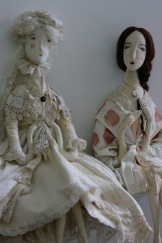 Artist Dolls OOAK 'The Ghost of Jane Eyre & Mother Melancholia' by Pantovola