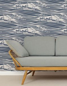 We used Mini Moderns' 'Whitby' wallpaper as the endpapers in Issue 3, now Kirstie Allsopp's picked up on it – click for more...