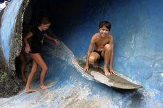 French kids surfing  Uluwatu  Bali