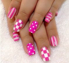 Pink checkers