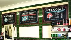 chalkboard price list for salon - Google Search