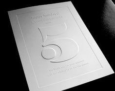 Gaufrage Letterpress - deboss knockout for an embossed effect