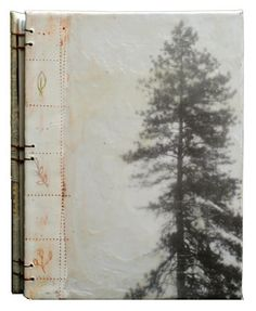 """The Life of Trees"" handbound blank journal encaustic mixed media 8x6 inches"