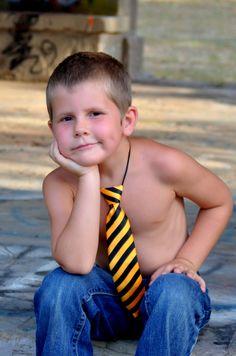 Noah modeling a tie for Bella Armonia Designs